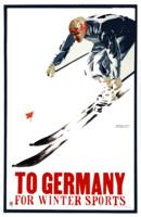 Vintage Skiing Winter Sports Germany Travel