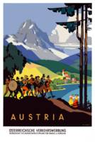 Vintage Austria Alps Travel