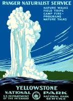 Vintage Yellowstone National Park Geyser WPA