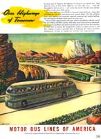 Vintage Futuristic Bus Travel