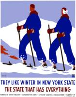 Vintage New York Winter Skiing