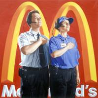 chris woods - mcdonald's nation, oil on canvas,