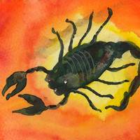 Scorpio Zodiac Horoscope Painting