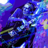 KEITH RICHARDS BLUE