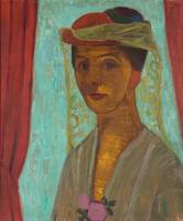 Paula Modersohn-Becker - Self-portrait with hat an