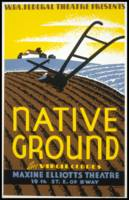 Vintage Native Ground WPA Farming