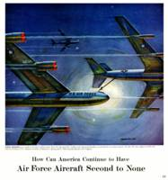 Vintage Air Force Plane Engines Advertisement