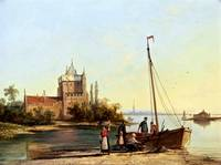 Dommerson Unloading a Boat in a Calm Estuary