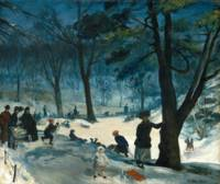 William James Glackens Central Park Winter