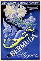 Vintage Bermuda Mermaid Travel