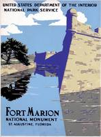 Vintage Fort Marion National Monument St. Augustin