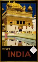 Vintage Visit India Golden Temple Travel