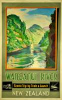 Vintage Wanganui River New Zealand Scenic Travel
