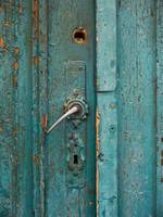 Turquoise Colored Door