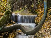 Autumn Waterfall in Brasov