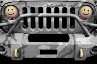 Jeep JK Black and Gray Camo