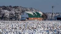 Delaware Barn in the Snow