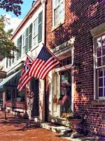 Fredericksburg VA - Street With American Flags