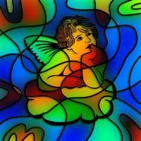 Stained Glass Cherub