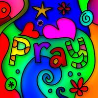 Stained Glass Pray Text