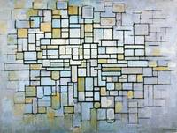 Composition in Blue Gray and Pink Piet Mondrian, 1