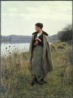 Daniel Ridgway Knight The Shepherdess Of Rollebois