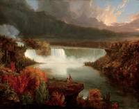 Distant View of Niagara Falls , Thomas Cole, 1830