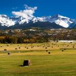 """Hayfield and The San Juan Mountains (Panorama)"" by pbk"