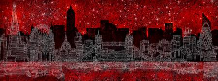 Panoramic Abstract London Cityscape