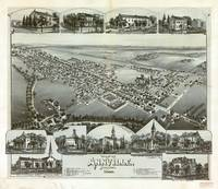 Aerial View of Anville, Pennsylvania (1888)