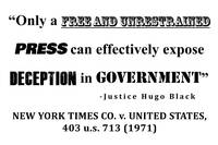 New York Times v United States black lettering whi