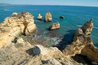 coves at Lagos, Portugal
