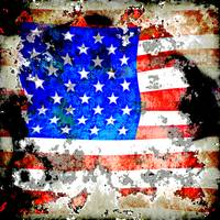 Extreme Grunge American Flag