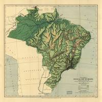 Physical Map of Brazil (1886)