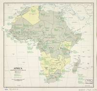 Map of Africa, Administrative Status (April 1962)