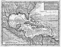 Vintage Map of the Caribbean (1732) BW
