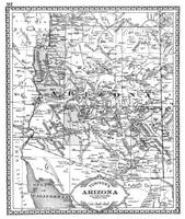 Vintage Map of Arizona (1881) BW