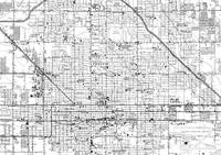 Vintage Map of Phoenix Arizona (1952) 2