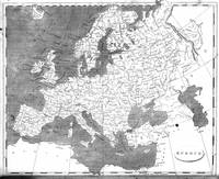 Vintage Map of Europe (1804) BW