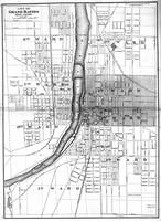 Vintage Map of Grand Rapids Michigan (1873) BW