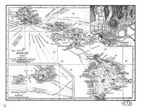 Vintage Map of Hawaii (1912) BW