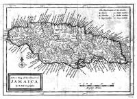 Vintage Map of Jamaica (1771) BW