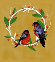 Bull Finch and Wreath
