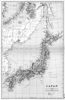 Vintage Map of Japan (1892) BW