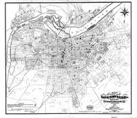 Vintage Map of Louisville Kentucky (1873) BW