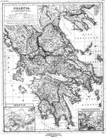 Vintage Map of Greece (1903) BW