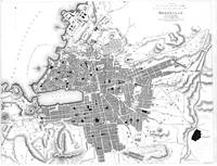 Vintage Map of Marseille France (1840) BW