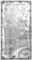 Vintage Map of New York City (1852) BW