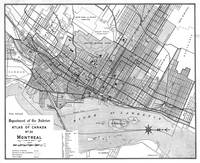 Vintage Map of Montreal (1906) BW