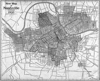 Vintage Map of Nashville Tennessee (1920) BW